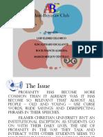 Anti Profanity Club- Proposal (presentation)