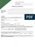 Transfer College Report