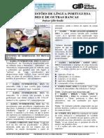 QUESTÕES DE LÍNGUA PORTUGUESA DA IADES E DO CESPE - PROFESSOR GILBER BOTELHO 2018.pdf