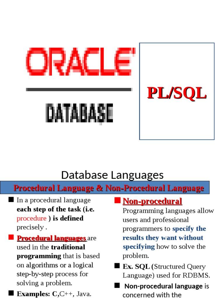 pl sql tutorial pdf español
