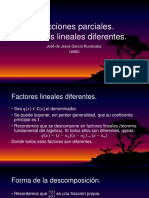 Fracciones Parciales Lineales Diferentes