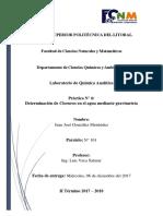 Práctica - Determinación de Cloruros en el agua mediante gravimetría
