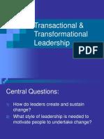 Transactional Transformational Leadership