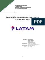 Aplicacion de Norma ISO 9001-2015 Para LATAM Airlines