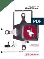 Lee Colortran Mini Ellipse Spec Sheet 1987