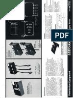 Lee Colortran Plugging Boxes Spec Sheet 1989