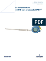 Transmisor de Temperatura Hart Modelo 3144p de Rosemount Data