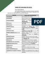 Glosario de Funciones de Excel