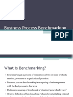 Business Process Benchmarking 1