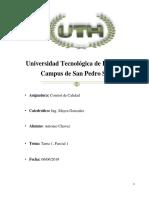 Antonio Chavez Control de Calidad II Tarea 1 Parcial 1 UTH.docx