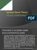 Lingkungan dan game  Theory