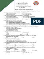 3rd Periodic Test.grade 9