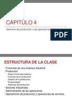 Capítulo 4 Gerencia de Producción o de Operaciones