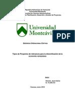 Diversificación de La Economía Venezolana