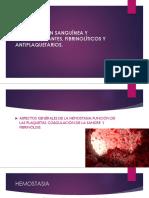 Coagulación Sanguínea y Anticoagulantes Fibrinolíticos y Antiplaquetarios (1)