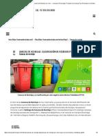 Canecas de Reciclaje_ Clasificación de Residuos Por Color. - Canecas de Reciclaje _ Proveedor de Canecas Para Reciclaje en Colombia