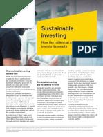 Behavioural Finance  & sustaianble investing