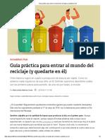 Guía Práctica Para Entrar Al Mundo Del Reciclaje (y Quedarte en Él)