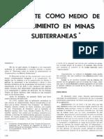 Shotcrete Como Medio de Sostenimiento en Minas Subterraneas (Georg e. Haag)