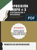 Exposicion de Tipos de Perforación_Grupo_3