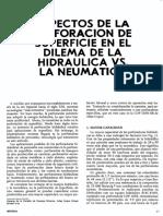 Aspectos Perforacion de Superficie en Dilema de Hidraulica vs. Neumatica (Peter l. Edmunds)
