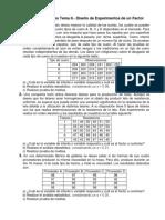 Serie de Ejercicios Tema 2.- Diseño de Experimentos de Un Factor