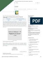 Surat _ Surah Ar Rahman Arab, Latin Dan Terjemah - Sepucuk Surat
