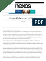 Desigualdad en México 2015