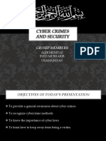 Cyber Crimes and Security