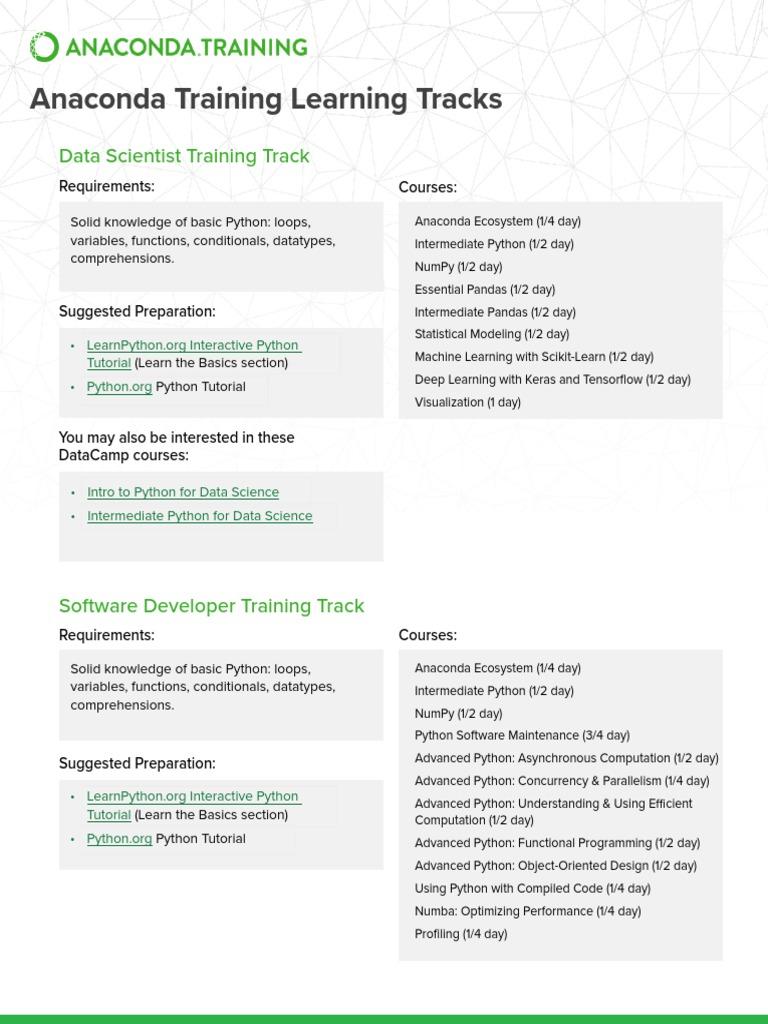 Anaconda-Training pdf | Python (Programming Language