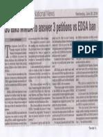 Manila Bulletin, June 26, 2019, SC asks MMDA to answer 3 petitions vs EDSA ban.pdf