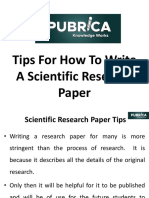Tips for How to Write a Scientific Research Paper | Pubrica