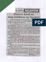 Ngayon, June 26, 2019, Duterte hindi na mag-eendorso ng Speaker.pdf