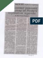 Peoples Journal, June 26, 2019, Romualdez presses swift okay of Rody's legislative agenda.pdf
