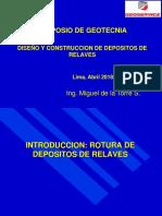 . Diseño y Construccion Depositos de Relaves Sociedad de Geologia Del Perú. de La Torre (1)