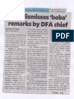 Philippine Daily Inquirer, June 26, 2019, Leni dismisses boba remarks by DFA chief.pdf