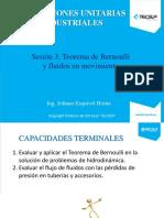 Sesión 3 Teorema de Bernoulli y fluidos en movimiento.pdf
