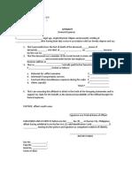 Affidavit Funeral Expense Claim