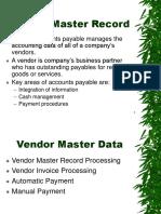 AutoPay Vendor Data Presentation