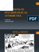 psychological attributes