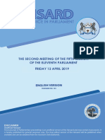 DAILY HANSARD 12 APRIL 2019 BUDGET (English Version).pdf