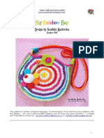 Big rainbow bag crochet
