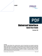 Universal Interface - Quick User Guide
