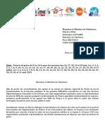 Courrier à Mr Christophe CASTANER Préavis de Grève Intersyndicale Unité Syndicale Le 19-06-2019