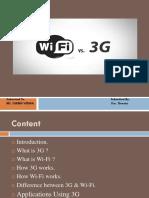 3g-vs-Wifi ppt