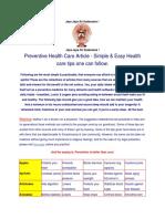 Preventive Health Care Tips
