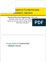Energy Balance Fundamentals Adiabatic Reactors