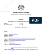 Environmental Quality Motor Vehicle Noise Regulations 1987 - P.U.a 244-87