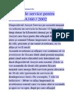 SERVICE M.B.A160.2001
