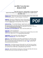 Some Bible Verses That Shows Jesus Christ is God